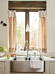 Linen Kitchen Window Treatment Ideas & Inspiration {blinds, shades,  valances, curtains, drapery and more} - bystephanielynn
