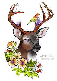 сообщество иллюстраторов иллюстрация эскиз тату олень неотрад