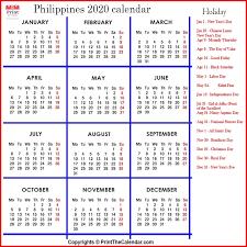 philippines holidays 2020 2020