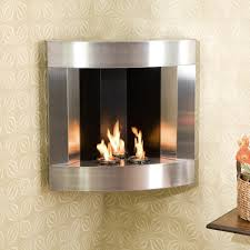 gorgeous stainless steel gel fuel fireplace wall mounted corner on wallpaper