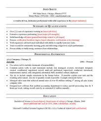 sample general resume