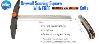 drywall square. edma drywall scoring square