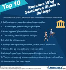 choosing a college reasons why students select a college choosing a college reasons