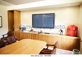office space memorabilia. Manchester Oxford Court PFA Office Boardroom Football Caps Framed Used Large Table Memorabilia Space Interior