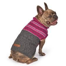 Petrageous Designs Dog Sweater Eddie Bauer Pet Ashford Stripe Cable Sweater In Plum Wine Gray By Petrageous Designs