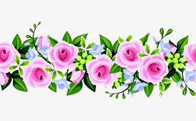 Small Picture Pink flower border design PNG and PSD File for Free Download