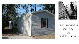 Million Dollar Mobile Homes Dave Ramsey Is Wrong On Mobile Homes Youtube