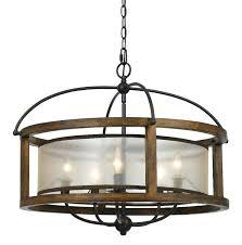 singular rectangular wood and iron chandelier photo inspirations