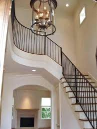 two story foyer chandelier with 2 decor lantern