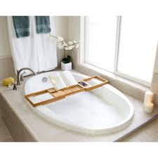 beautiful bathtub book holder in bellasentials bamboo bathtub caddy modern ideas design