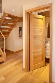 bespoke oak internal door bespoke oak glass staircase contemporary