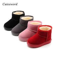 authentic winter children boots toddler boys girls snow boots fashion sequin leather boots for kids