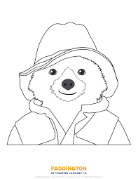 Paddington Bear Coloring Page Free Printable
