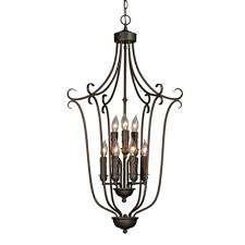 golden lighting maddox collection 9 light rubbed bronze 2 tier chandelier