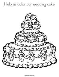 Small Picture Help us color our wedding cake Coloring Page Twisty Noodle