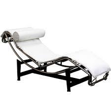 black leather chaise longue le corbusier furniture
