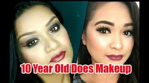 10 year old does makeup makeup tutorial