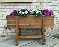 wooden garden planter on legs extra