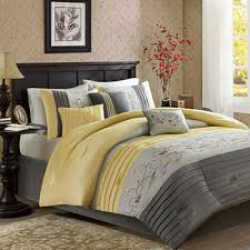 Yellow gray bedding Gardens Yellow 13188 15088 Sale Jcpenney Yellow Comforters Bedding Sets For Bed Bath Jcpenney