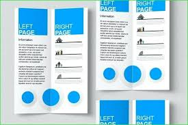 4 Panel Brochure Template Four Fold Brochure Size