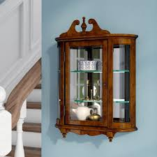 wall mounted curio cabinet. Bedingfield WallMounted Curio Cabinet Intended Wall Mounted Wayfair