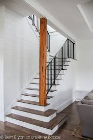 basement stairs ideas. Stairs To The Basement -- Open Staircase Wood Planked Walls Stained And Painted Metal Railing Ideas N