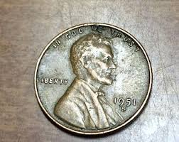 1951s Lincoln Wheatback Cent Wheat Back Penny Coins Buy