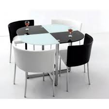 features romantic space saving folding. Black And White Space Saving Dining Room Table Chairs Features Romantic Folding