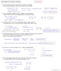 enchanting algebra 1 linear equations word problems jennarocca systems of worksheets with solutions template sa systems