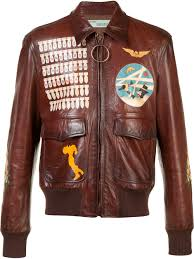 off white missiles print biker jacket brown men clothing jackets off white jacket barneys off white shirt biggest