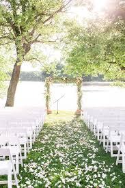 indian trail club outdoor ceremony nj waterfront venue nj wedding venue photo by idalia photography