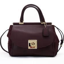 coach coach handbag shoulder bag 2way bag dark purple leather x suede lady s h18347