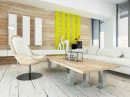 Wall Panelling Living Room Rustic Wood Veneer Finish Living Room Interior With Natural Wood