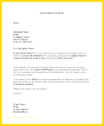 School Letters Templates Donation Letter Template For Schools