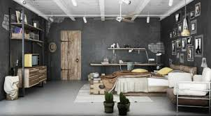 Modern interior design in industrial style