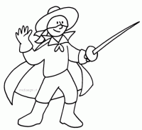 Zorro Da Stampare E Colorare Disegno Zorro09 Personaggio