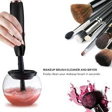amazon makeup brush cleaner clean and dry all makeup brushes in seconds professional premium washing cosmetic brushes cleaner tool black color