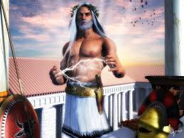 Zeus god of the Olympics and Supreme Ruler of Mt Olympus.