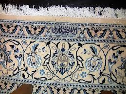 large persian tabriz area rug blue white