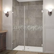 frameless hinged shower door in stainless