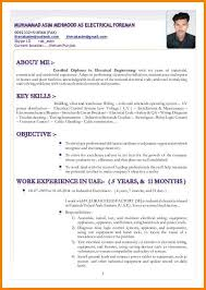 Sample Resume Electrical Technician Mwb Online Co