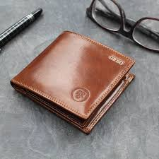personalised luxury leather wallet the vittore