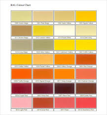 11+ Sample General Color Chart Templates | Sample Templates