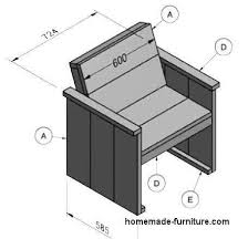 chair drawing easy. Homemade Furniture Plans For A Wooden Chair From Scaffolding Planks. Construction Drawing Easy