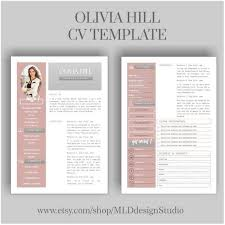 Resume Template 2 Page Cv Template Cover Letter For Ms