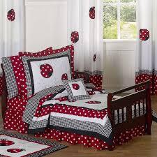 Ladybug Bedroom Red Black And White Ladybug Polka Dot Toddler Bedding With 5 Pc