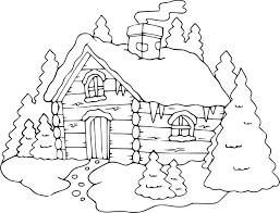 Jeux De Maison Pour Fille 8 Coloriage Chalet 224 La Montagne