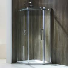 Fine Curved Shower Enclosures Uk Frontline Aquaglass Single Door Offset With Decorating