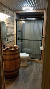 13 Awesome Barndominium Designs to Inspire You. Barn Wood BathroomWestern  ...