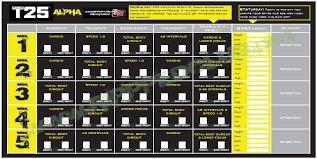 Focus T25 Workout Schedule - Free PDF Calendar for ALL PHASES ...